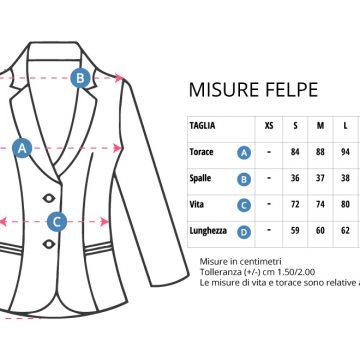 Tabella taglie Felpe / giacche